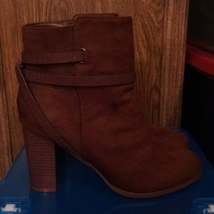 $20 NWT vegan suede style ankle boots